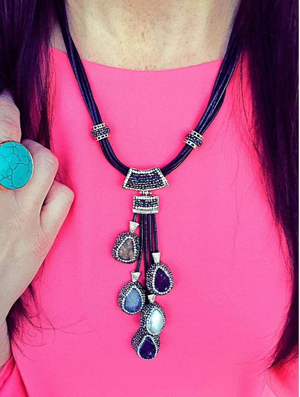 """Mabelle Multi Gemstones Necklace"""