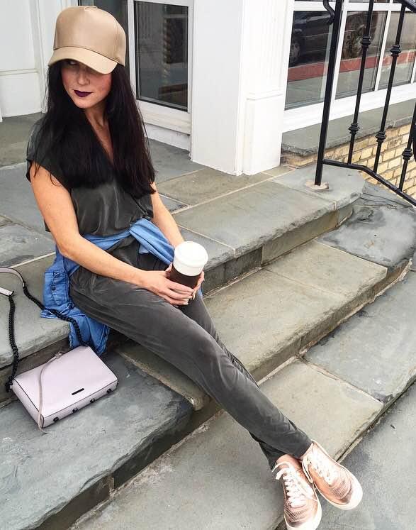 Sneakers// Via Spiga  Handbag// Rebecca Minkoff Hat// Akira