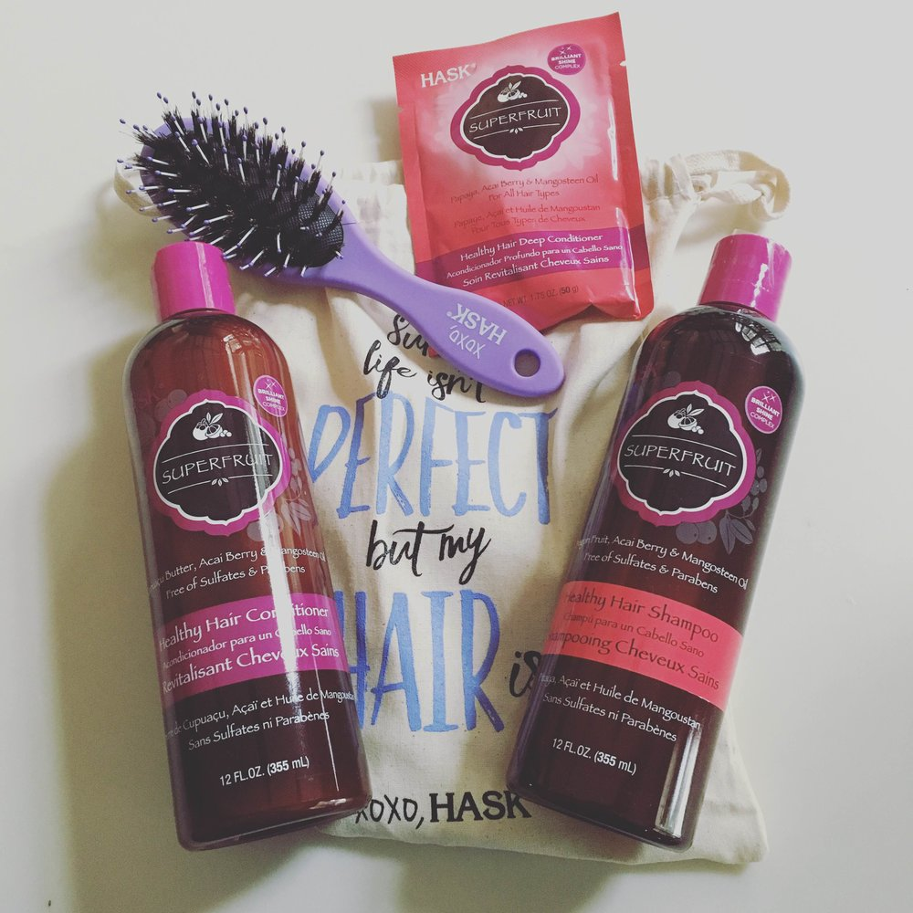 Another great hair product line by  Hask Hair ! I have tried several of the Hask Hair collection lines with various qualities they strive to promote in each line and haven't found one that wasn't amazing! My hair hasn't been this soft in years and the fact that the product is a gentle formula makes my hair extra happy. Did I also mention what a great price all the products are as well? Win-win all around with HASK!