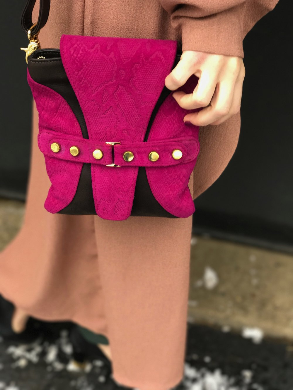 """Ella Crossbody, Fuschia"""