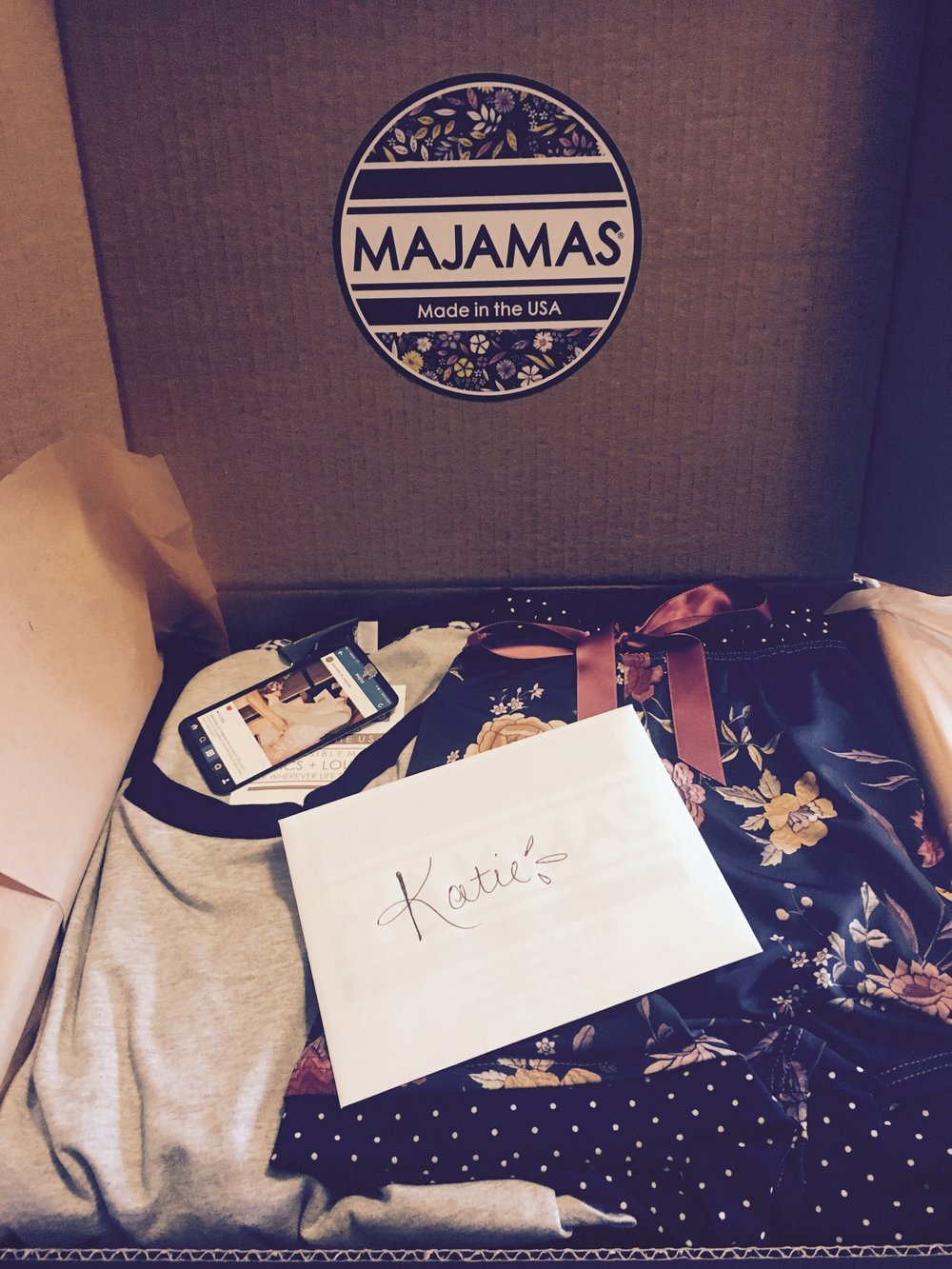 """Lounge Lover Majamas Gift Box "", $188"