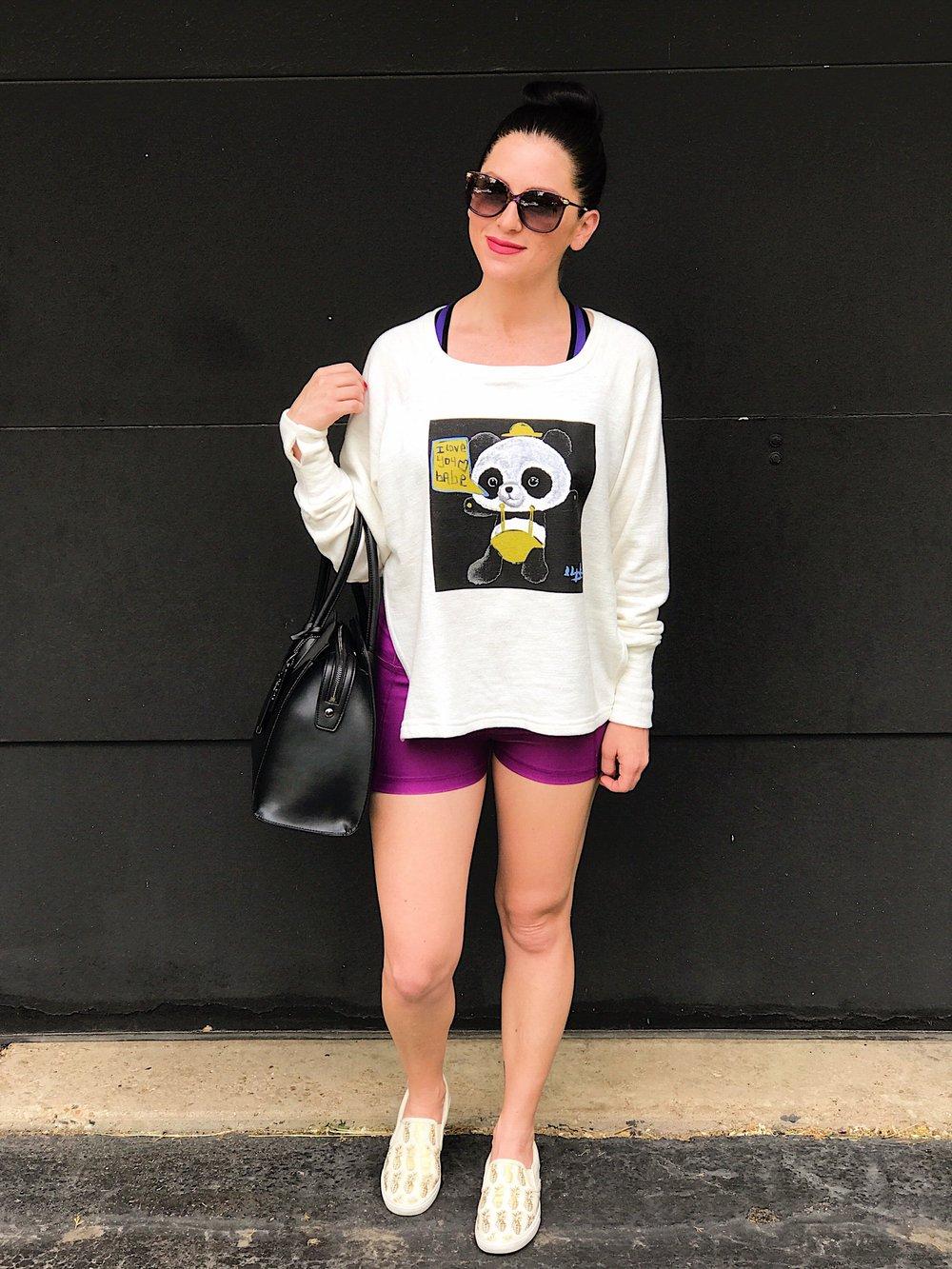 """""""Graffiti Panda Sweatshirt & """"Perfect Fit Mini Short"""""""