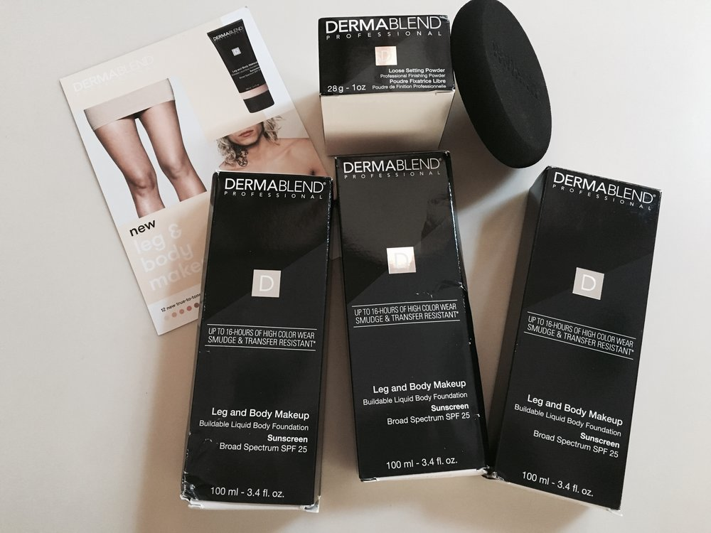 Since Summer time brings sunshine and tan lines I had to try out Dermablend Professional's body makeup! I have runner's tan lines on my legs from my sunny morning runs so I love to put this on whenever I wear shorts, skirts, or shorter dresses. It's natural and makes any imperfections perfect!