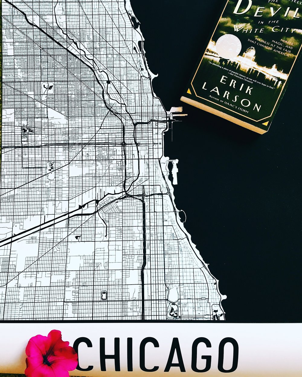 """Chicago, IL Street Map Poster"""