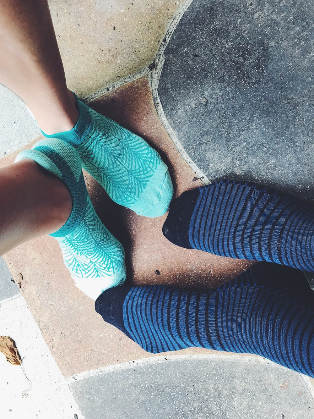 His & Her comfort socks! Super comfy and cute and you can choose options that you can dress up and dress down.