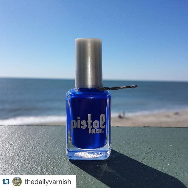 GORG!! #Repost @thedailyvarnish with @repostapp. ・・・ Blue Bonnie is the perfect polish for a beach pedicure ❤ @pistolpolish #notd #nailpolish #MyrtleBeach #PISTOLpolish