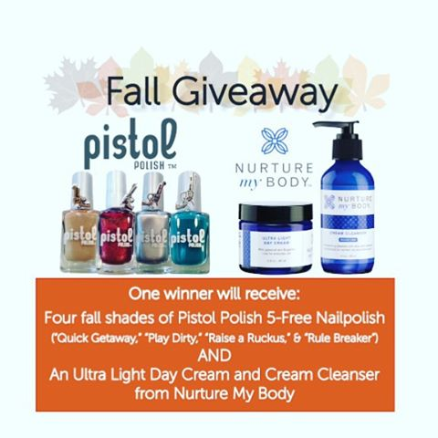 We've partnered with @nurturemybody on an amazing giveaway - be sure to visit Facebook.com/PISTOLpolish for details on how to enter!