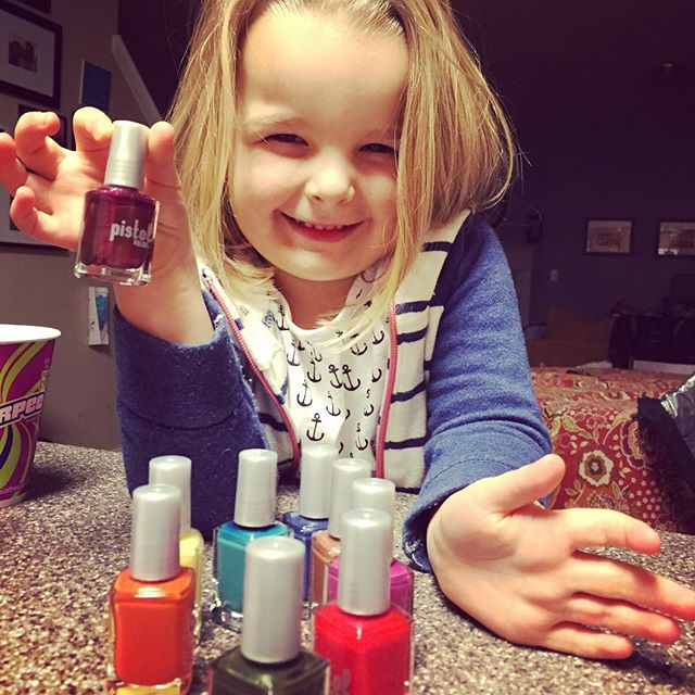 Four year old Olive is hyped up about her new loot! Nothing sweeter than a mini #PISTOLwoman