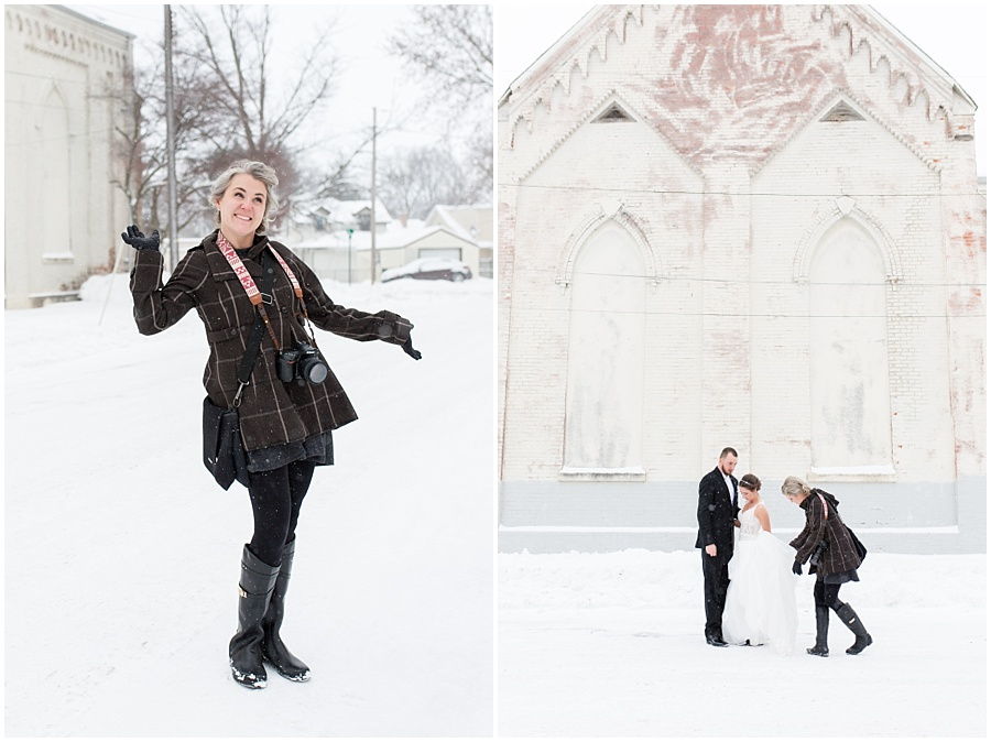 It was single digits, below zero wind chill and lake effect snow ALL DAY. Jordan + Emily (and the bridesmaids who helped me with Emily's dress) were such troopers. Thank you for trusting me!! These are some of my favorite winter wedding photos of all time. You guys rock.