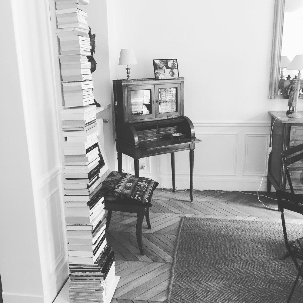 Inside a Parisian apartment