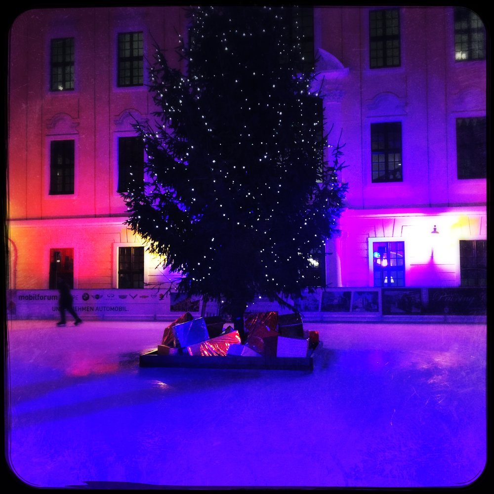 What could possibly be better than being in Germany experiencing one's first European Christmas while staying in a hotel with its very own open-air ice rink?!