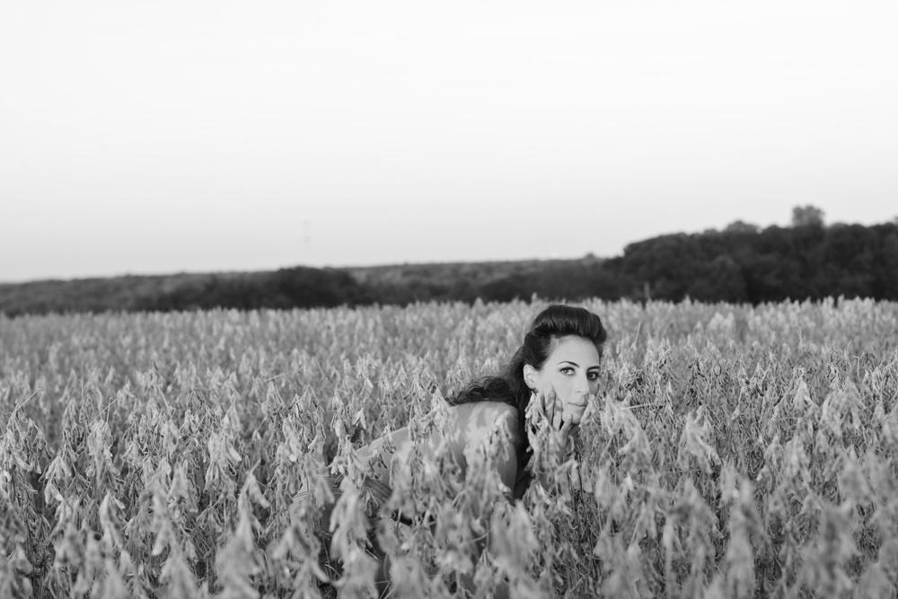 We saw a field on the way home, so of course we stopped and played around.