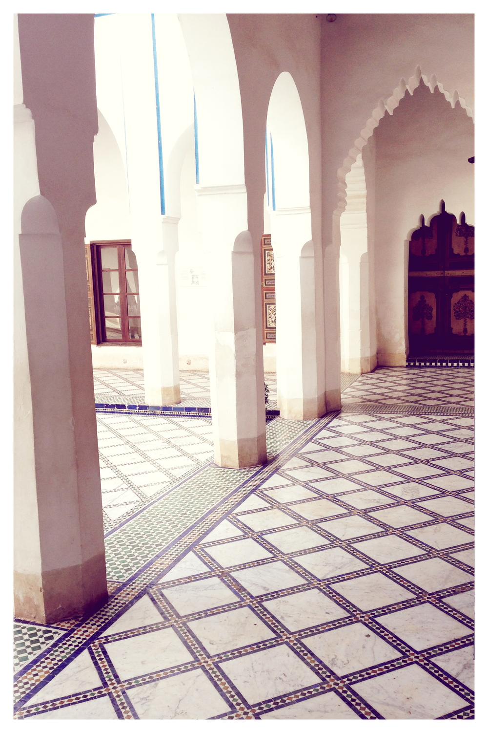 Palais de la Bahia- The the tile work and craftsmanship of this entire property is stunning. If you go to Marrakech you must stop here to see for yourself.  And the place where he kept his concubines..not to shabby. ;)
