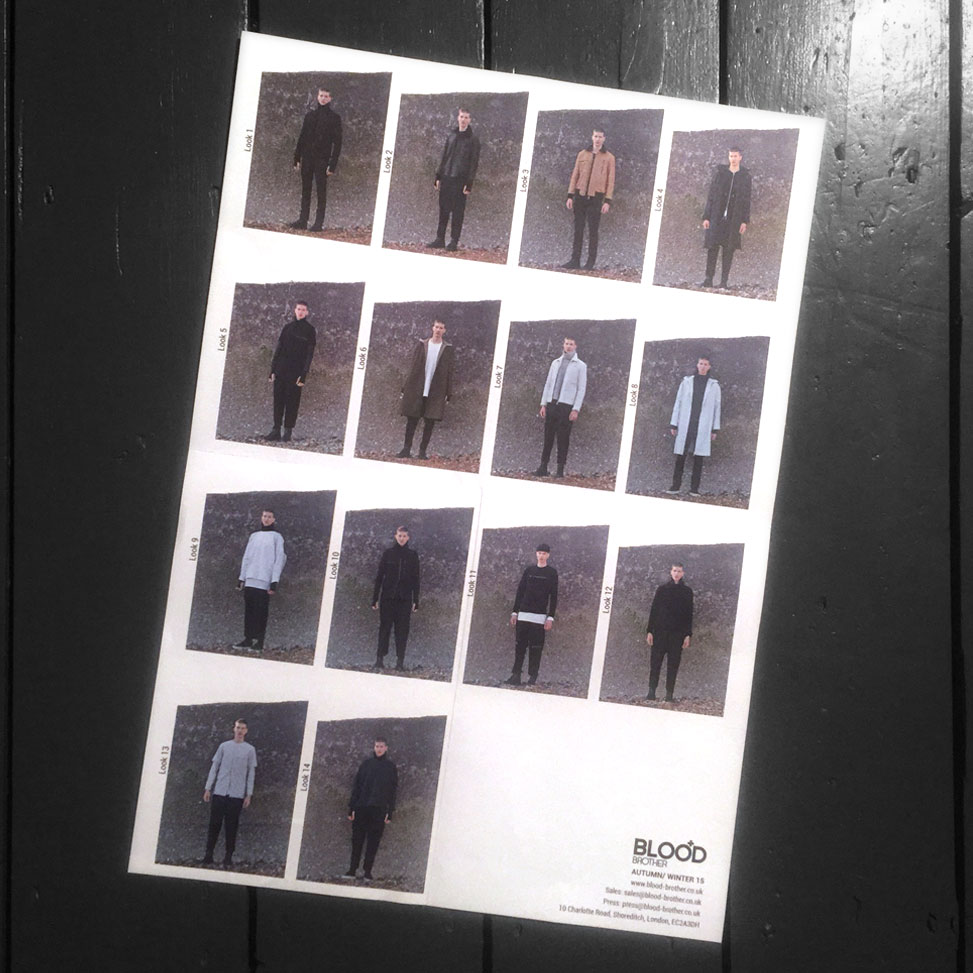 THE AW15 PRINTED LOOK BOOK BACK.