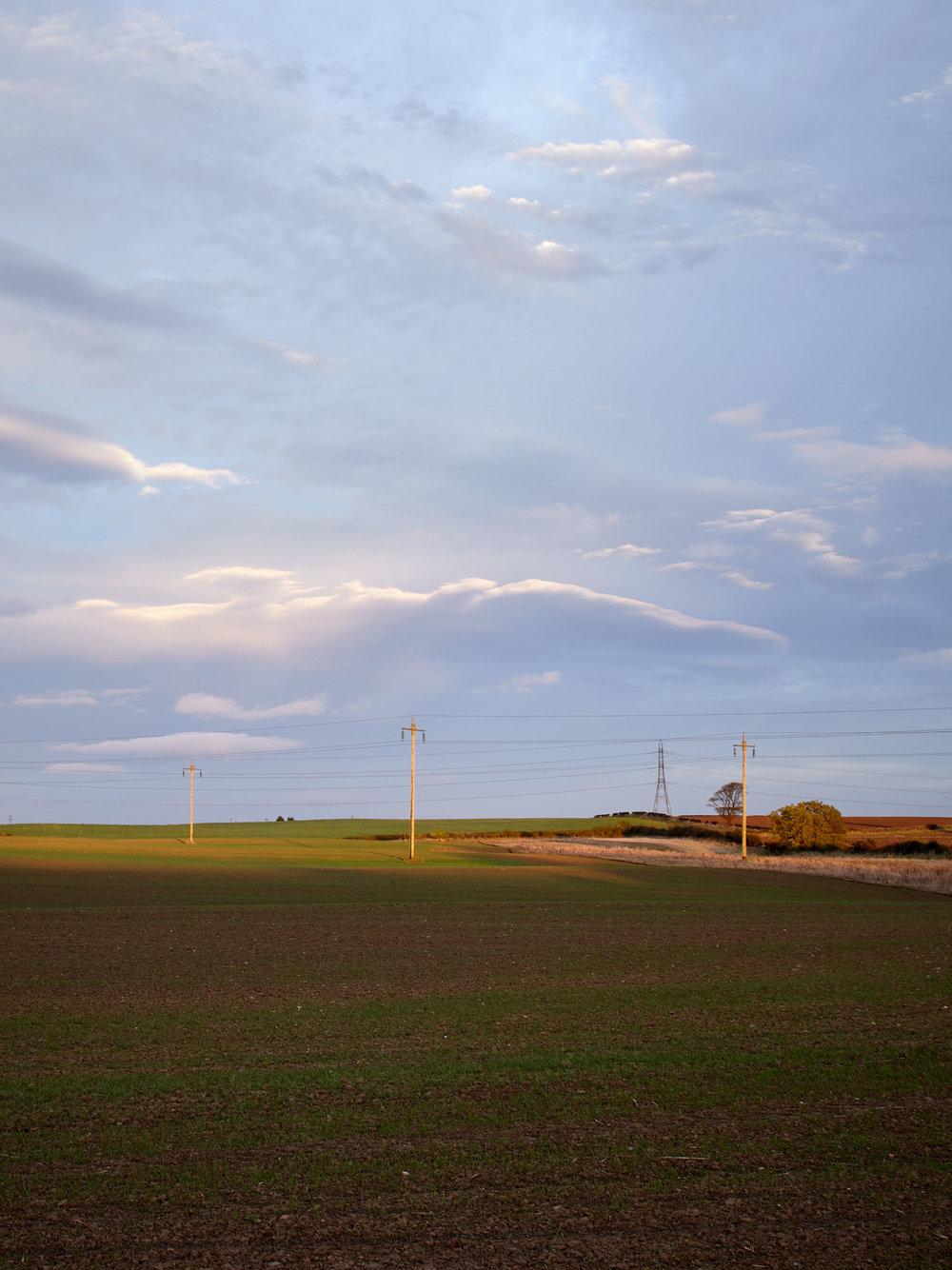 Pylons at last light.