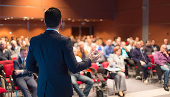 Professional public speaking services.