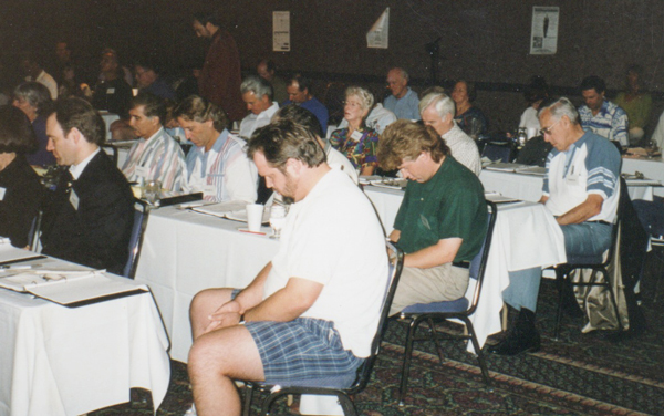 I'm such a riveting speaker, the entire audience was put to sleep. This is a picture of one of hundreds of hypnosis trainings I've performed in the last 25 years.