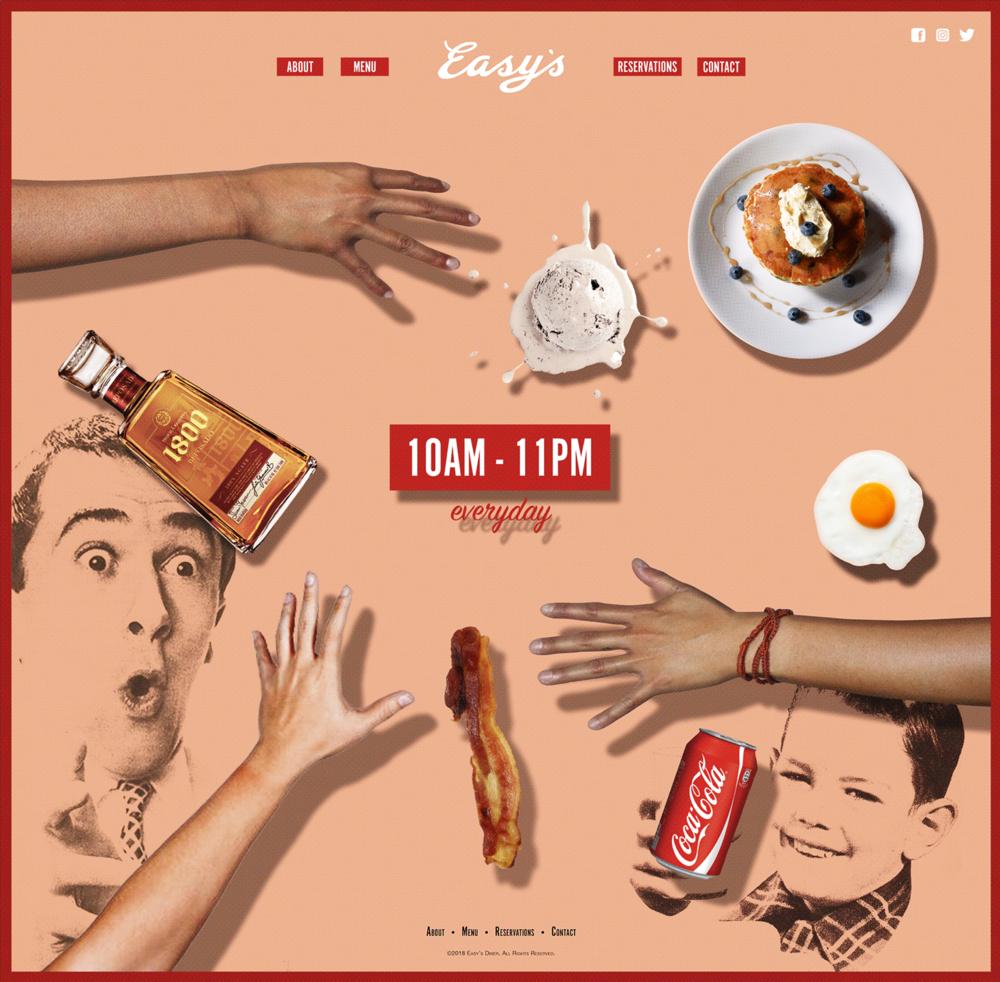 Easy's Diner - Web Design | Graphic Design