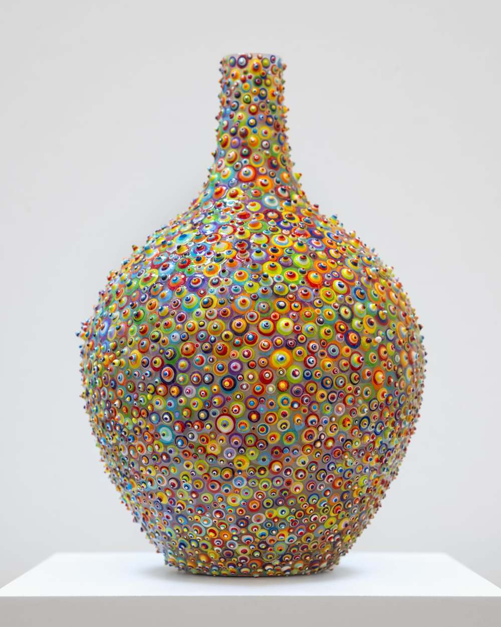 "Bindu Volupta - SOLD  Acrylic and resin glass. 12"". 2015."