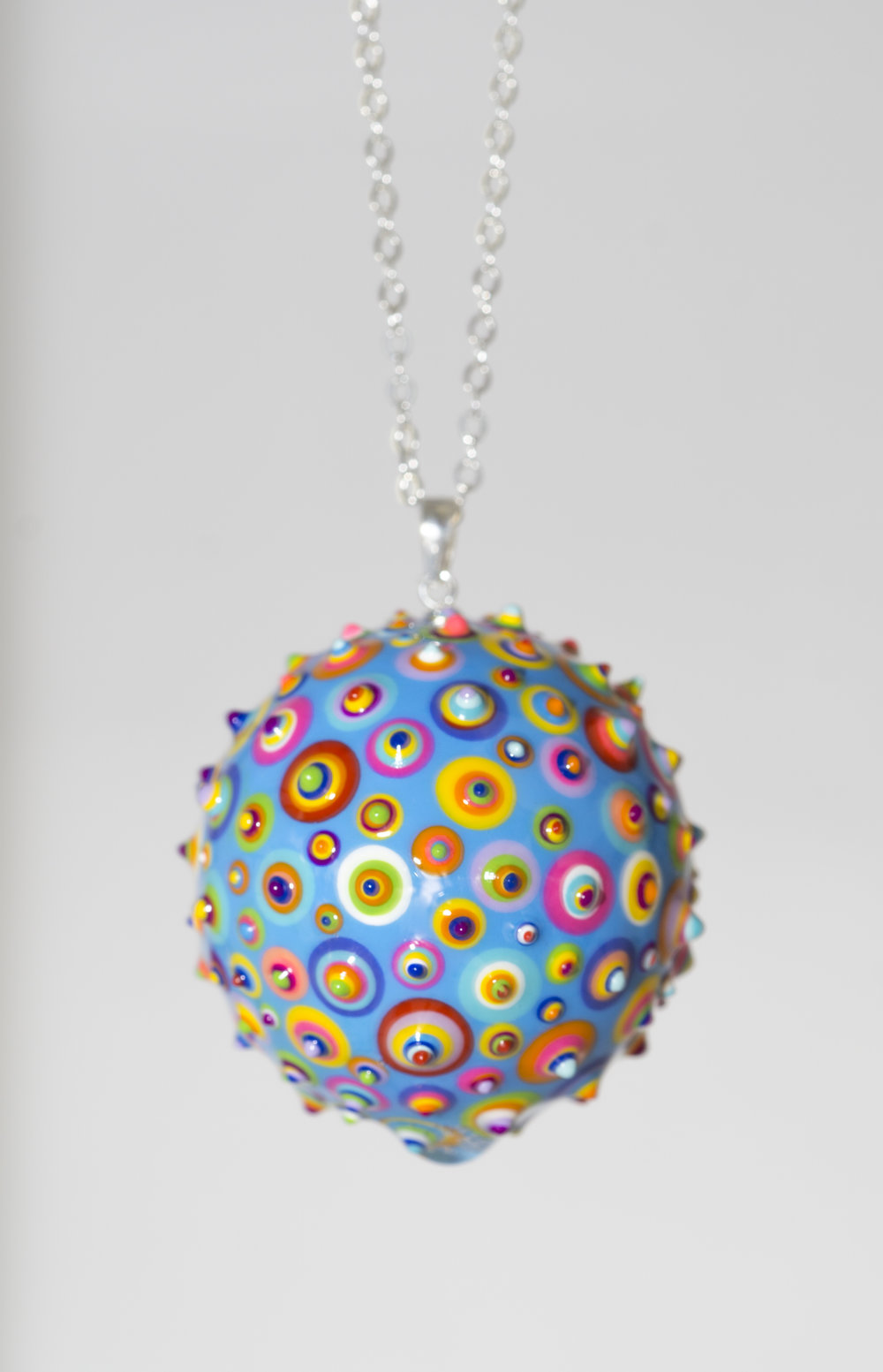 "Bindu Pendant. Light Blue #01 . 1-1/4"" Sphere."