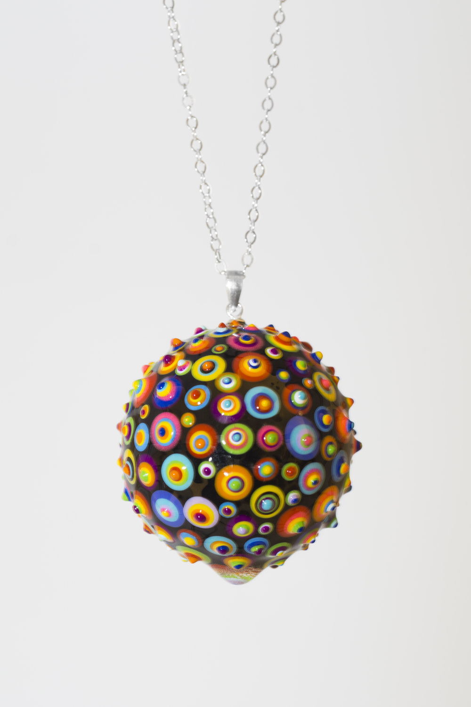 "Bindu Pendant. Black #02. 1-1/4"" Sphere. Upon Request"