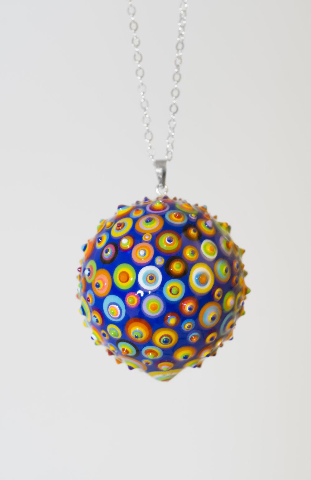 "Bindu Pendant. Dark Blue #02. 1-1/4"" Sphere. Upon Request"