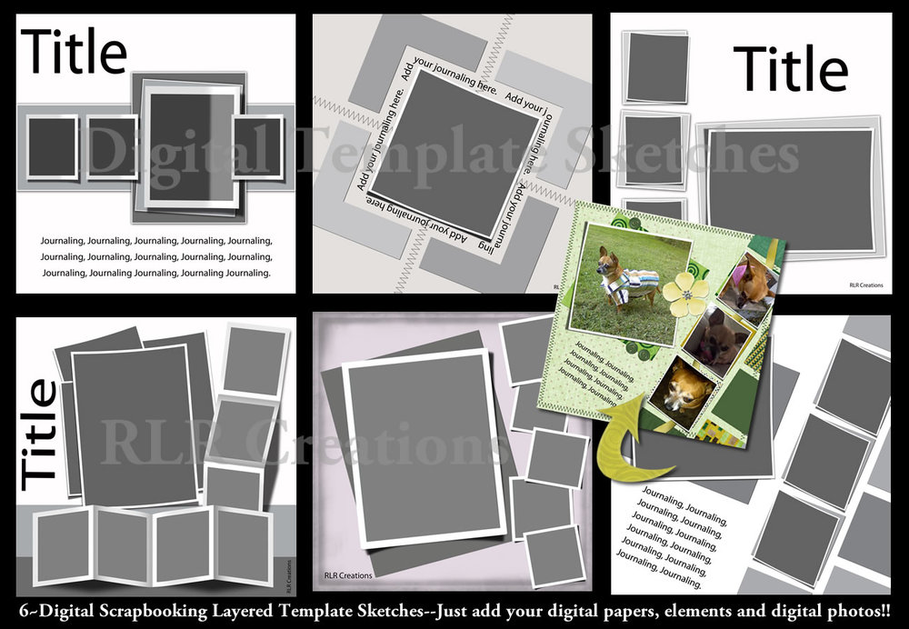 Lifted Layers Digital Scrapbooking Psd Layered Templates Rlr Creations
