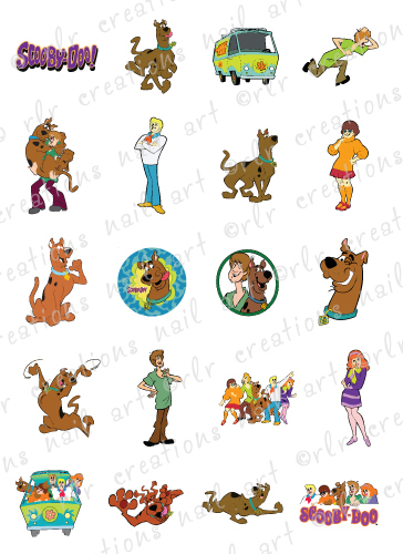 20 Waterslide Nail Art Decals Scooby Doo Character Assortment Rlr Creations