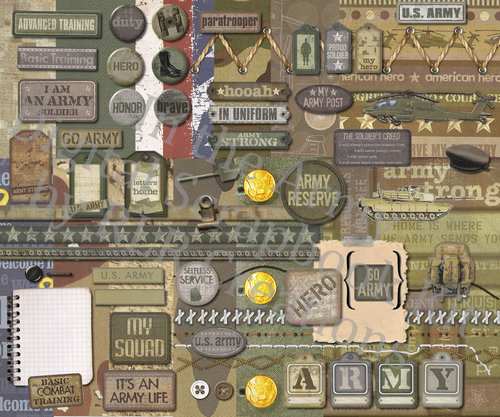 In The Army Digital Scrapbooking Kit Rlr Creations