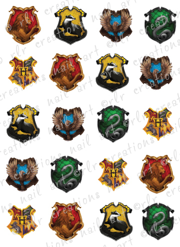 20 assorted harry potter hogwarts house crests water slide for How did the white house get its name