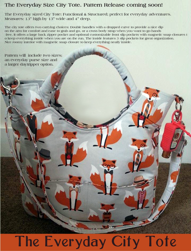 Fox City Tote in Everyday size