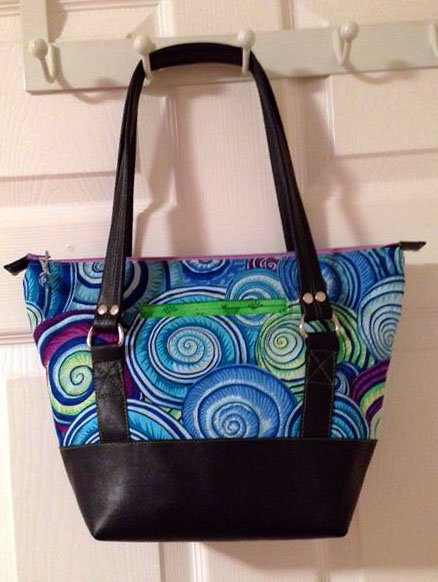 Titania Tote in Pleather Accents by Maxine McNeill