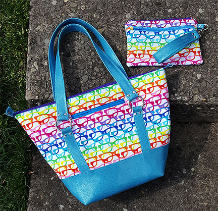 Titania Tote in Sparkle Vinyl Accents