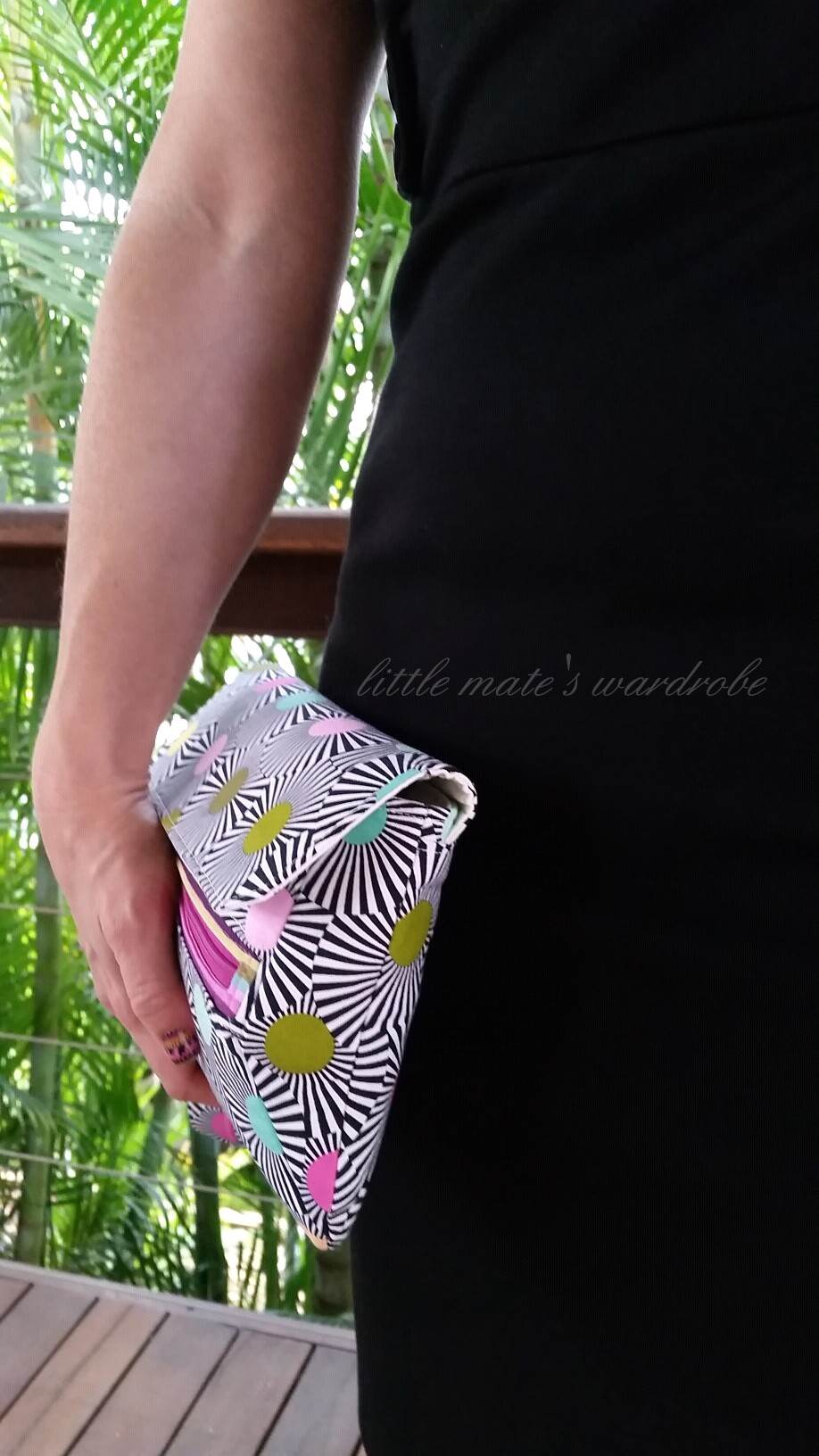 The Zelie Clutch  -bag and photo by Tanya Summers of Little Mate's Wardrobe