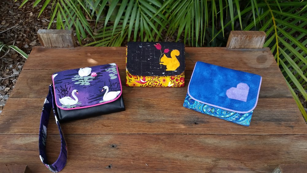 Photos and Limelight Wallets by Tanya Summers of Little Mate's Wardrobe