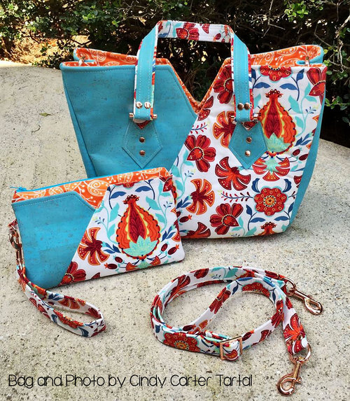 Vespera Tote with Removable Pocket Pouch / Wristlet PDF Sewing ...