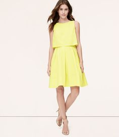 LOFT Citron Crop Illusion Dress