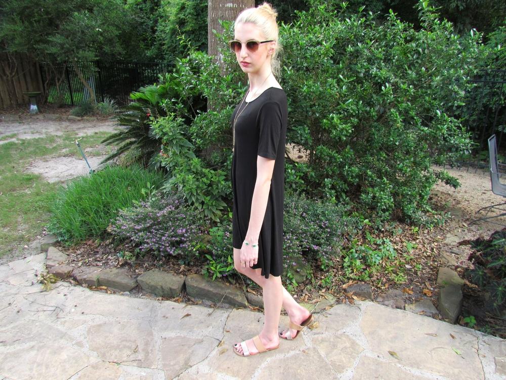 LOFT black trapeeze dress 1
