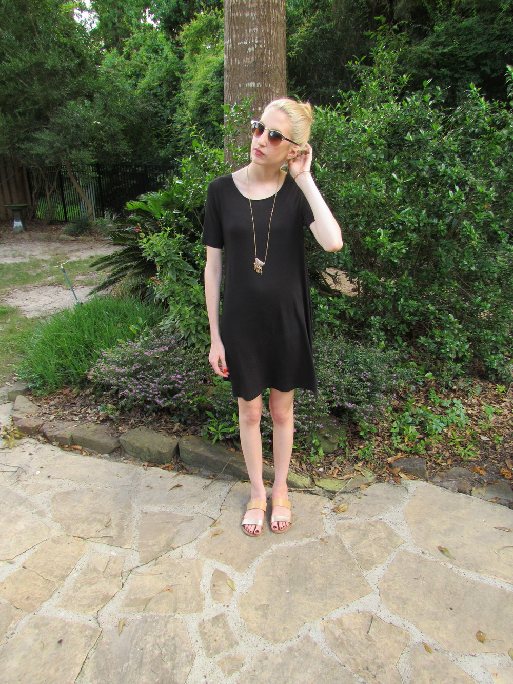 LOFT Haul black trapeeze dress 2