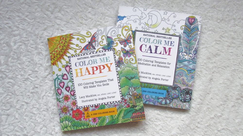 April Favorites - Color Me Happy & Color Me Calm Adult coloring books