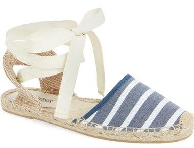 Soludos chambray striped espadrille sandals - Southern New Yorker