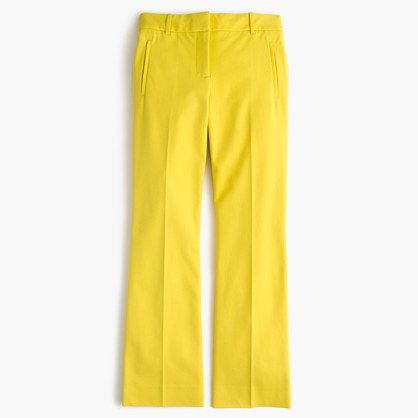 J.Crew Teddie pants in bright lemon yellow - Southern New Yorker