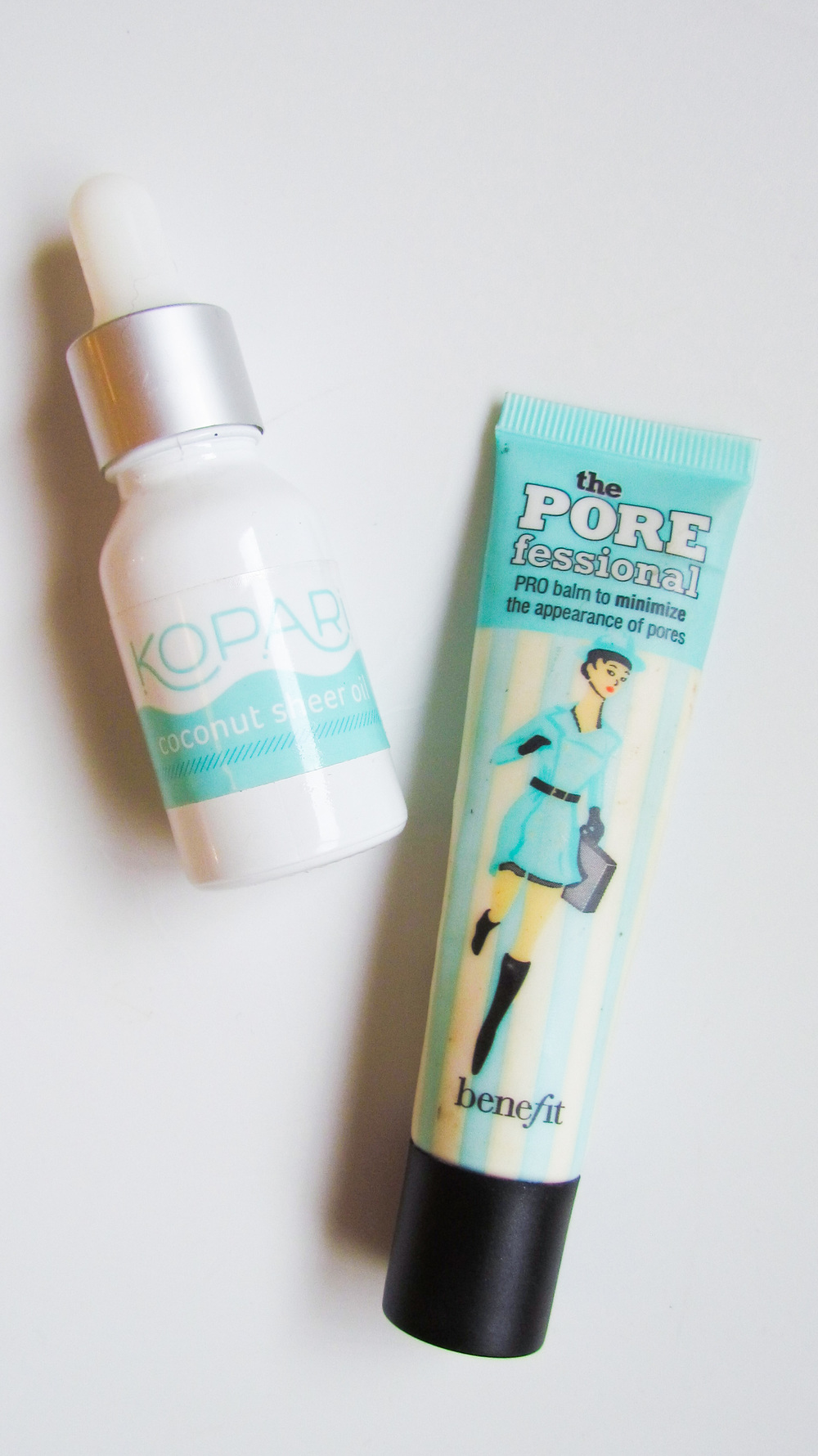 Benefit Porefessional and Kopari Sheer Coconut Oil
