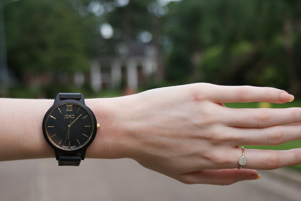 Jord Wood Watches - Frankie in Ebony and Gold