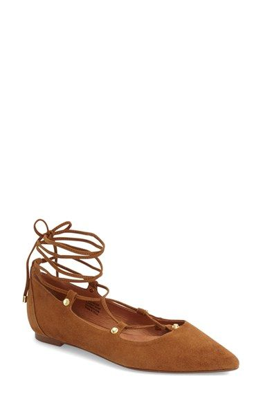 Halogen lace up pointed toe flats - Nordstrom Anniversary Sale