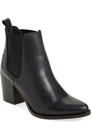 Steve Madden black heel chelsea ankle bootie - Nordstrom Anniversary Sale