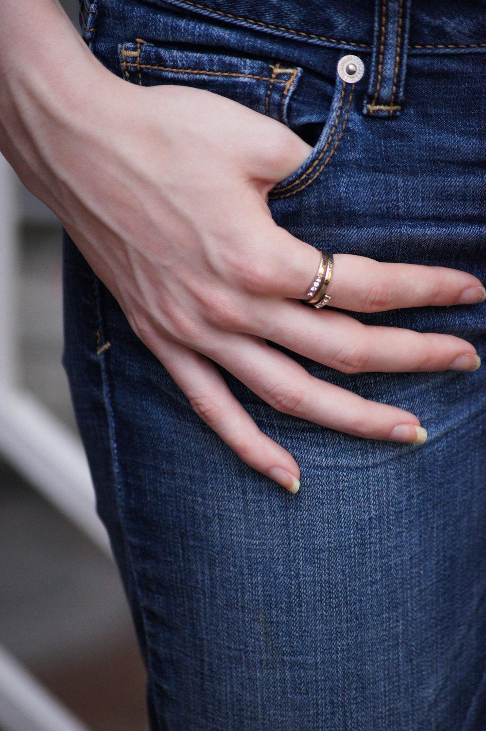 Sophie Harper Pave spiral ring in gold - rocksbox