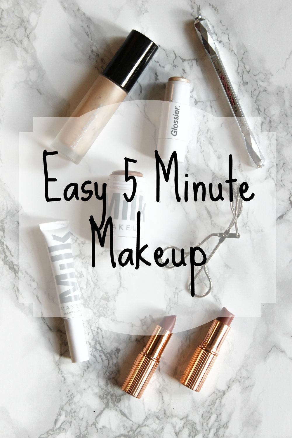 Easy fast simple 5 Minute everyday makeup
