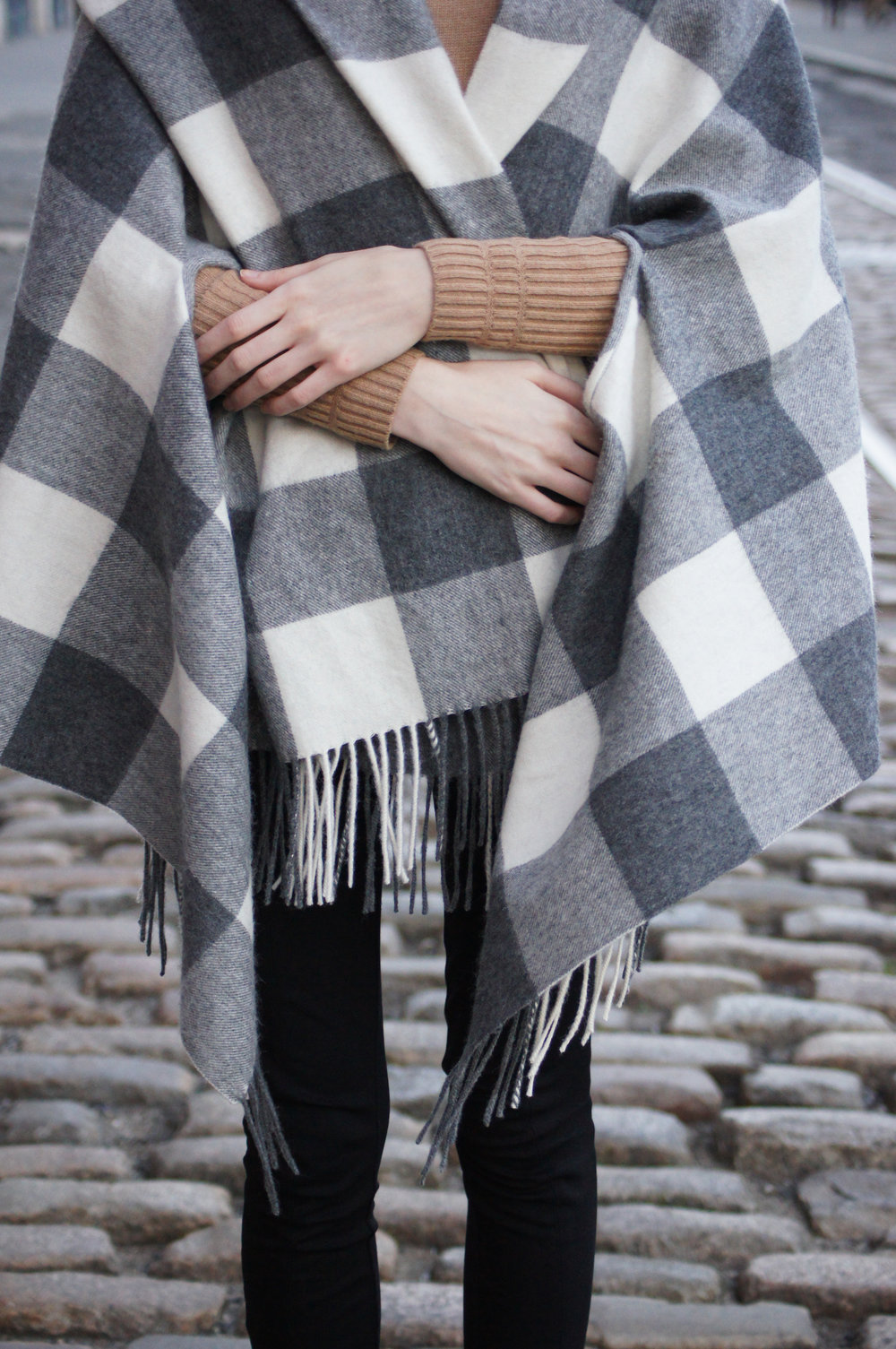 J.Crew Buffalo Check Cape Scarf