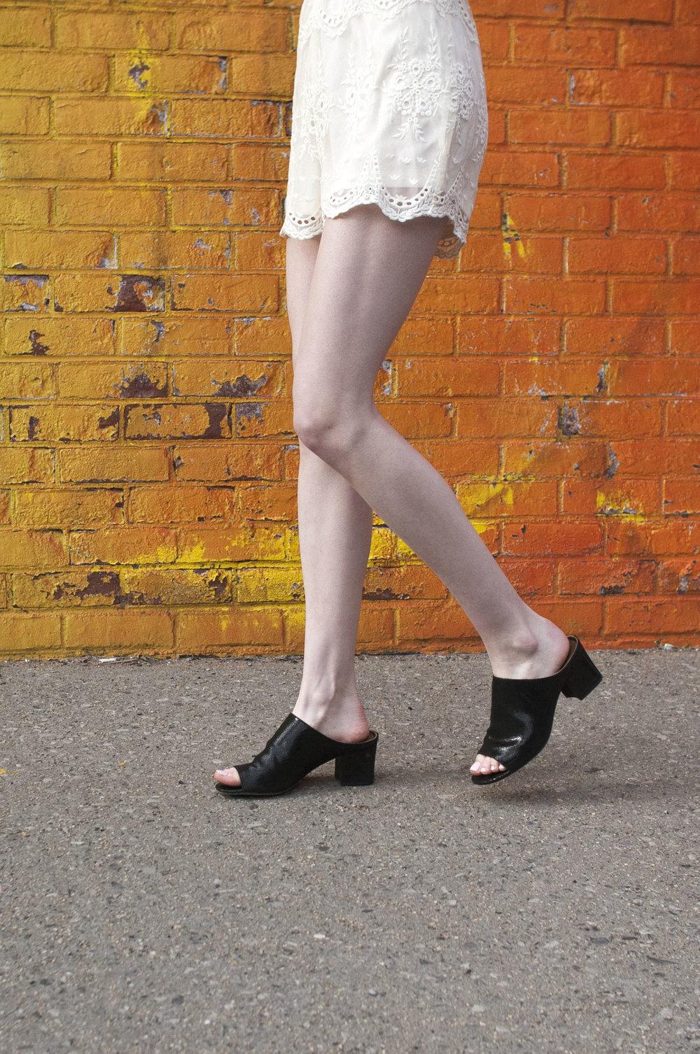 Tobi lace romper, black heeled mules, choker, festival style, coachella style, donald j pliner black heeled mules